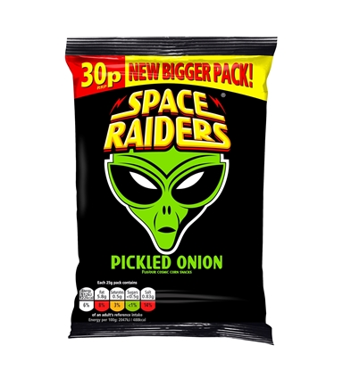 Picture of PM 30P SPACE RAIDERS PICKLED ONION 25G X 36