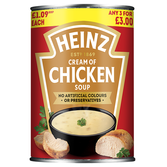 Picture of PM £1.09/3 FOR £3 HEINZ CHICKEN SOUP X 12