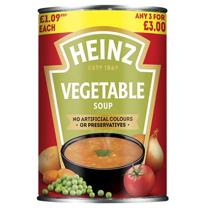 Picture of PM £1.09/3 FOR £3 HEINZ VEGETABLE SOUP X 12