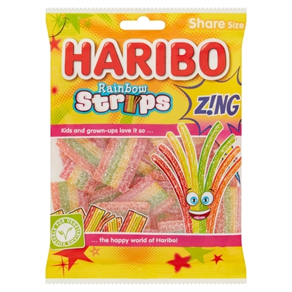 Picture of HARIBO RAINBOW STRIPS Z!NG 130G X 12