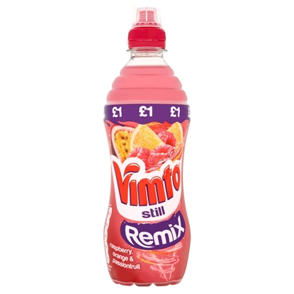 Picture of PM £1 VIMTO REMIX STILL RASP/OR/PASS 500M X 12