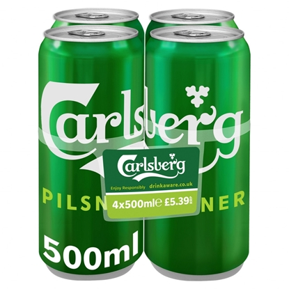 Picture of PM £4.69 CARLSBERG 4PK X 6