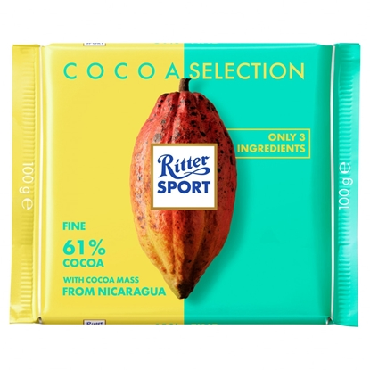Picture of RITTER 61% FINE COCOA FROM NICARAGUA 100G X 12