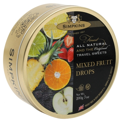 Picture of SIMPKINS MIXED FRUITS TRAVEL TINS 200G X 6