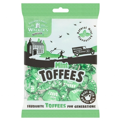 Picture of WALKERS MINT TOFFEES 150G X 12