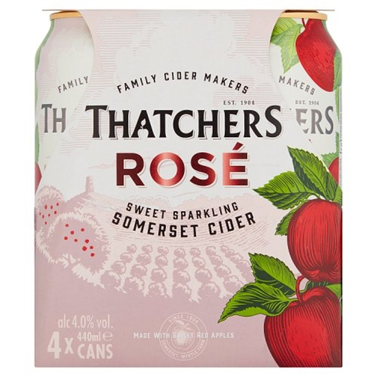 Picture of THATCHERS *ROSE* CANS 440ML 4PK X 6