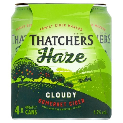 Picture of THATCHERS HAZE *CANS* 440ML 4PK X 6