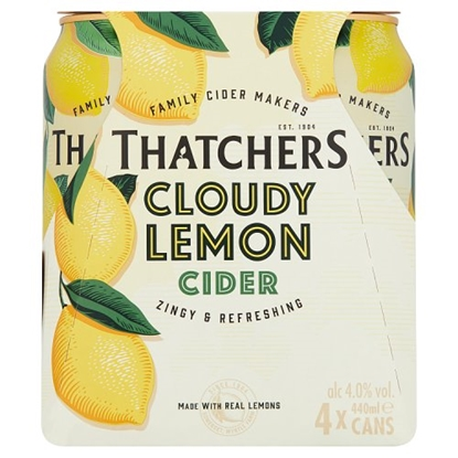 Picture of THATCHERS LEMON CANS 4PK X440ML X 6