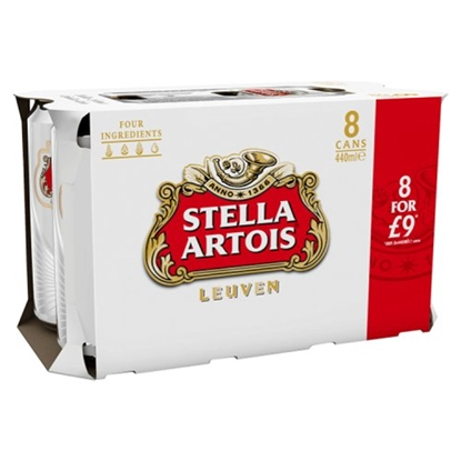 Picture of PM £9.49 STELLA 8PK X 3