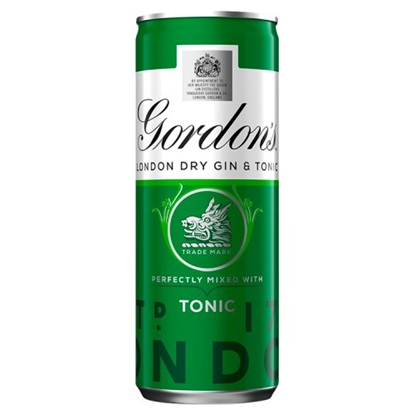 Picture of GORDONS & TONIC 250ML X 12