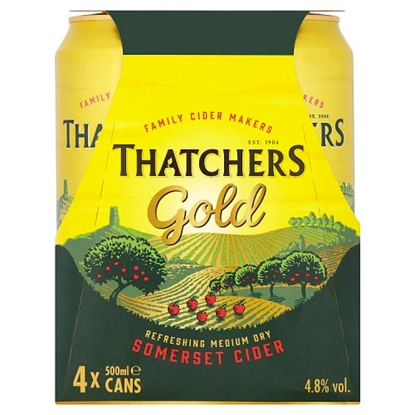 Picture of PM £4.99 THATCHERS GOLD *CANS*  500M 4PK x 6