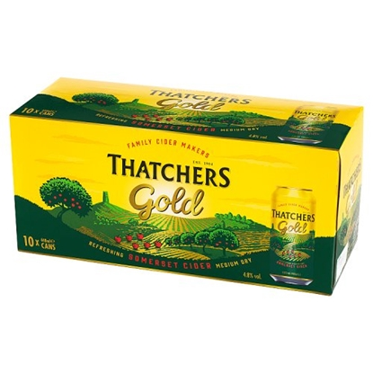 Picture of *10PACK* THATCHERS GOLD *CANS* 440MLx2