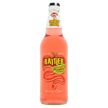 Picture of CORNISH RATTLER STRAWBERRY & LIME 500ML x 12