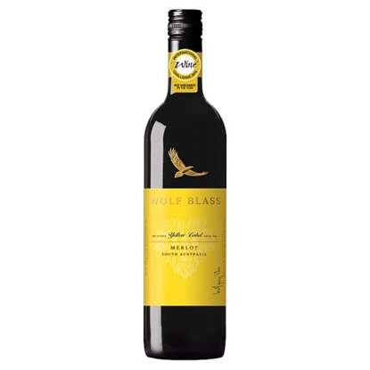 Picture of WOLF BLASS YELLOW LABEL MERLOT 75CL X 6