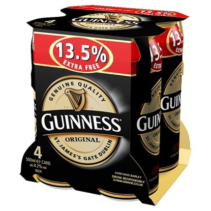 Picture of GUINNESS ORIGINAL 500ML 4PK X6