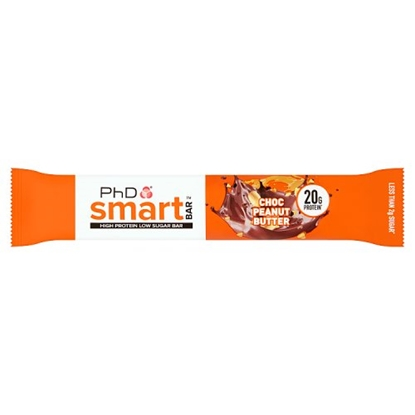 Picture of PhD SMART BAR CHOC PEANUT BUTTER 64G X 12