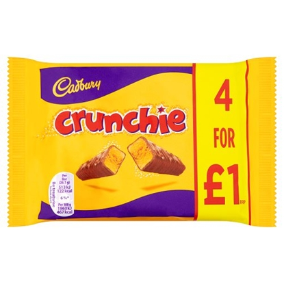 Picture of PM £1 CRUNCHIE 4 PACK 104G X 10