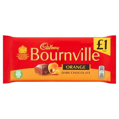 Picture of PM £1 BOURNVILLE OLD ORANGE 100G X 18