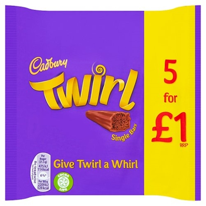 Picture of PM £1 TWIRL 5 PK 107.5G X 20