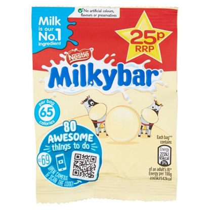Picture of PM 25P MILKYBAR PIECES BAG 12G X 60
