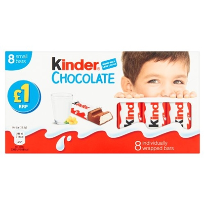 Picture of PM £1 KINDER CHOCOLATE  MINI 8 PACK x 10