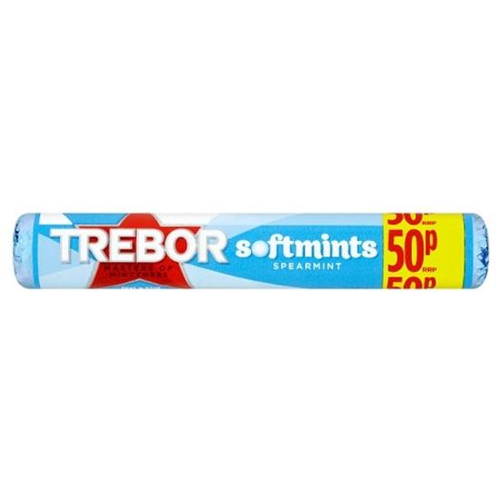 Picture of PM 50P TREBOR SOFTMINTS SPEARMINTS BLUE x 40
