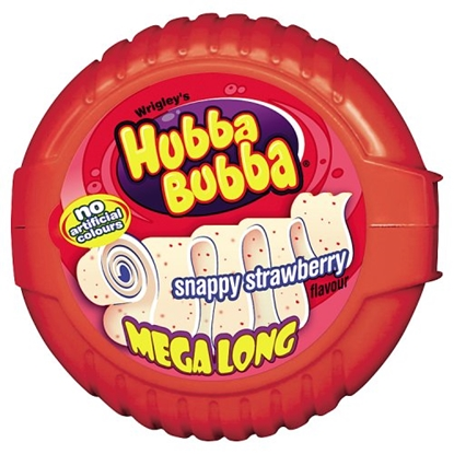 Picture of WRIGLEYS HUBBA BUBBA *TAPE* STRAWBERRY X 12