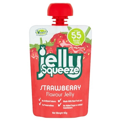 Picture of JELLY SQUEEZE STRAWBERY 95G x 16
