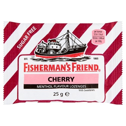 Picture of FISHERMANS FRIEND CHERRY SUGAR FREE X 24