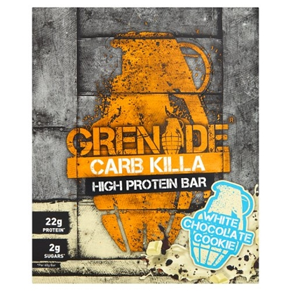 Picture of GRENADE BARS WHITE CHOC COOKIE 60G X 12