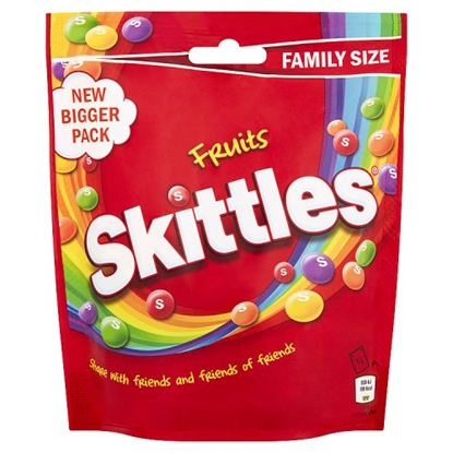 Picture of SKITTLES FRUITS POUCH 196G x14