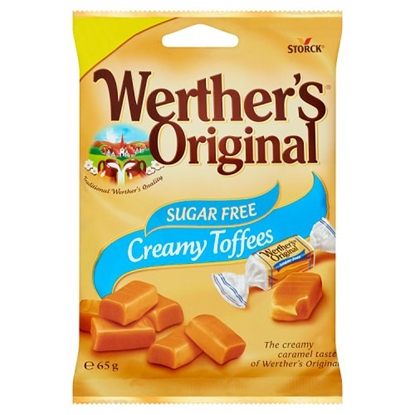 Picture of PM £1 WERTHERS SUGAR FREE TOFFEES 65G X 12