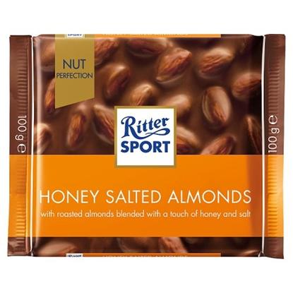 Picture of RITTER HONEY  SALT ALMOND 100Gx11