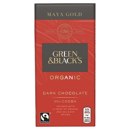 Picture of GREEN & BLACKS MAYA GOLD 100G x15