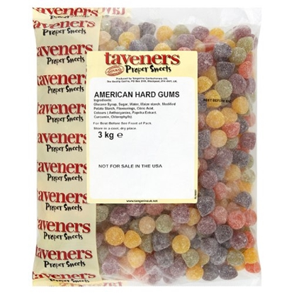 Picture of TAVENERS W/O AMERICAN HARD GUMS X 3KG