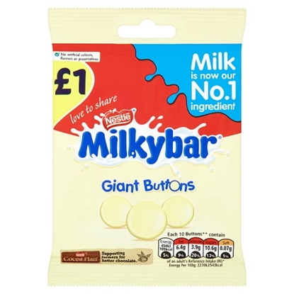 Picture of PM £1 MILKYBAR GIANT BUTTONS 85G X 12