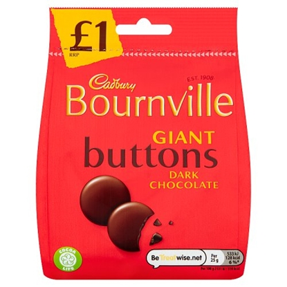 Picture of PM £1 BOURNVILLE DARK BUTTONS 95G X 10
