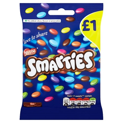 Picture of PM £1 SMARTIES HANGING BAG 87G x 12