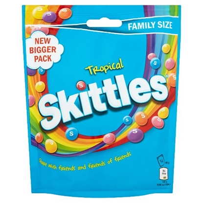 Picture of SKITTLES TROPICAL POUCH 196G x 14