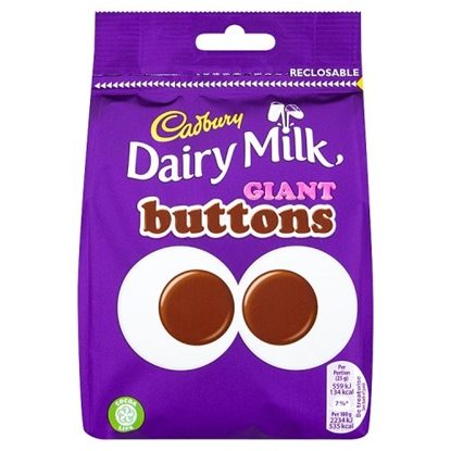 Picture of CADBURY GIANT BUTTONS POUCH 119G X 10
