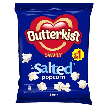 Picture of PM £1 BUTTERKIST SALTED POPCORN 58G X 12