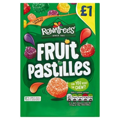 Picture of PM £1 ROWNTREES FRUIT PASTILLES BAG X 10
