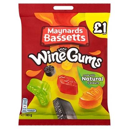 Picture of PM £1 MAYNARDS WINE GUMS BAG 165G X 12