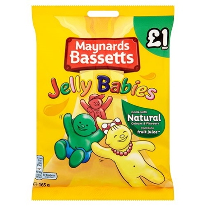 Picture of PM £1 BASSETTS JELLY BABIES BAG 165G X 12