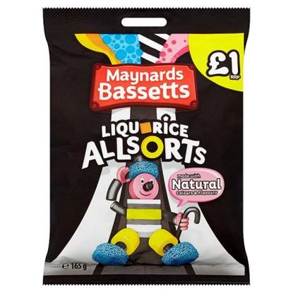 Picture of PM £1 BASSETTS LIQUORICE ALLSORTS BAG 165G X 12
