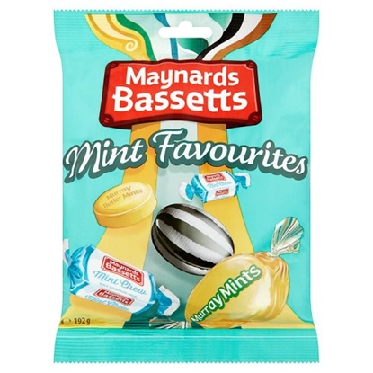 Picture of MAYNARDS BASSETTS MINT FAVORITES 192G BAG X 12