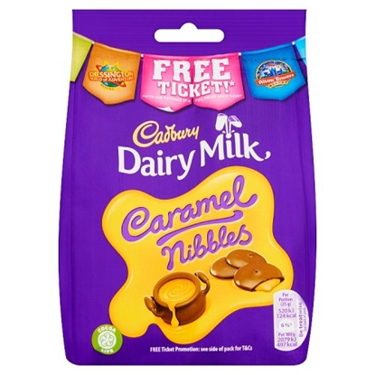 Picture of CADBURY CARAMEL NIBBLES POUCH 120G x10