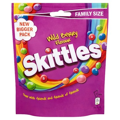 Picture of SKITTLES WILD BERRY 196G X 14