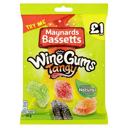 Picture of PM £1 MAYNARDS TANGY WINE GUMS 165G X 12