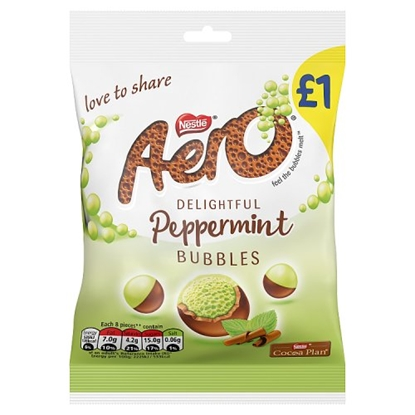 Picture of PM £1 AERO *PEPPERMINT* BUBBLES  BAG x 12